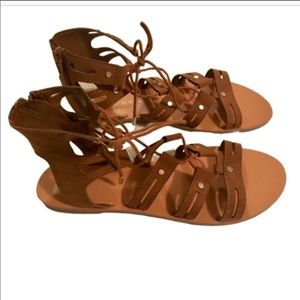 Dolce Vita gladiator style brown sandals size 10
